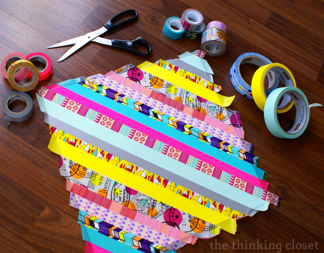 Decorating cardstock with washi tape!