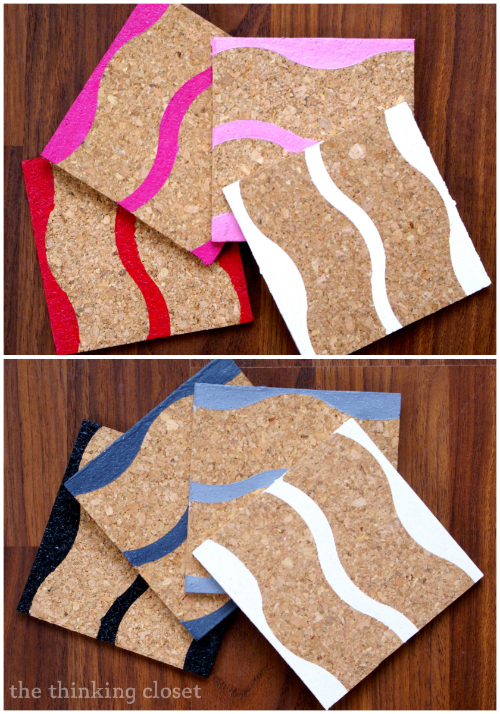 Painted Cork Coasters With Myfavoritebloggers The