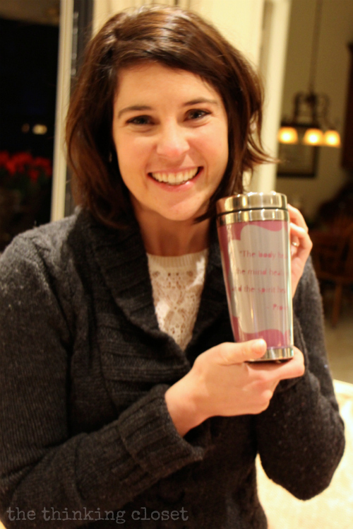 A personalized insulated mug proves to be a great gift idea!
