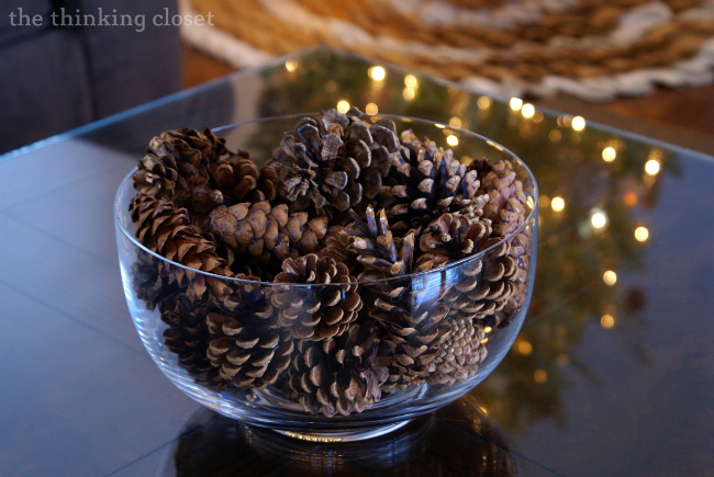 Gold Brushed Pine Cone Ornaments With Myfavoritebloggers