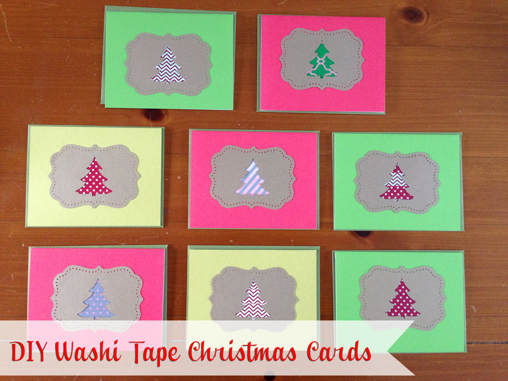 DIY Washi Tape Christmas Cards featured in The Thinking Closet Reader Showcase!