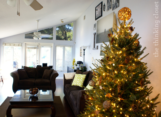 Rustic Glam Christmas Tree...an oxymoron that works!