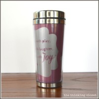 Personalized Insulated Mug Tutorial & Silhouette Winner