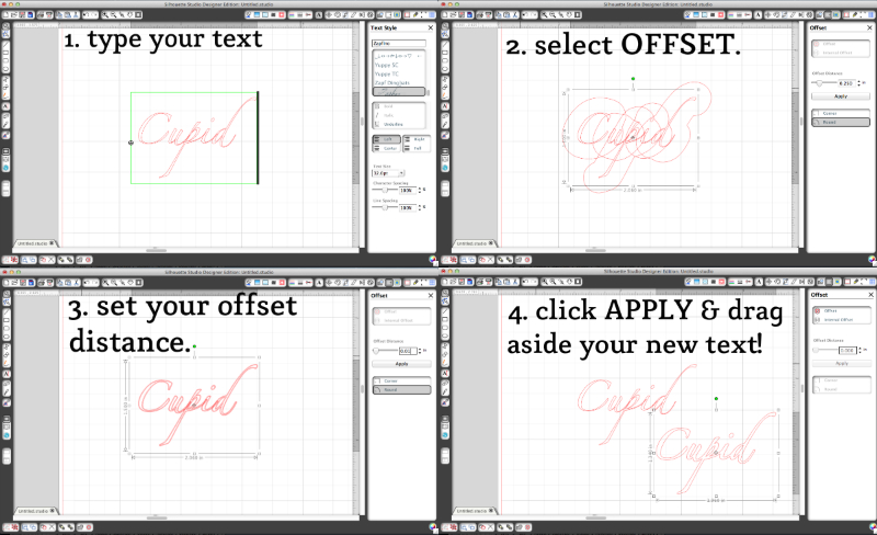"How to ""beef up"" a font using the Offset Tool in Silhouette Studio."