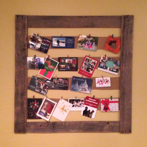 Pallet Photo Display by Julie & Brian