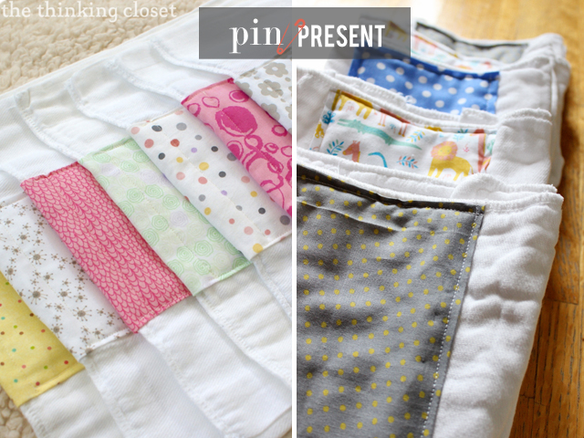 Pin To Present! Burp Cloths by In Residence