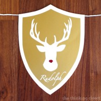 (Rein)Deer Head Holiday Banner & $155 Amazon Giveaway!