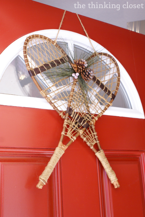 Snow Shoe Door Decor