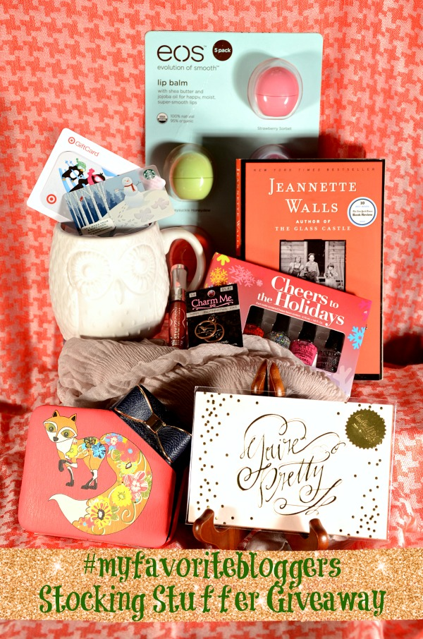 Stocking Stuffer Giveaway hosted by #myfavoritebloggers.  A prize pack valued at over $150.  12/2 - 12/8