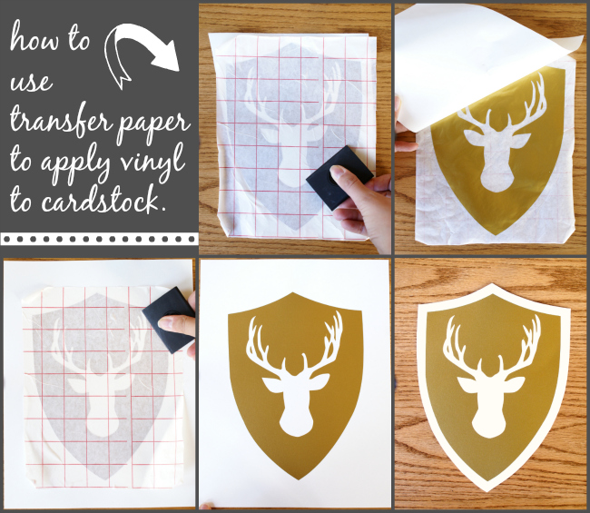 How to use transfer paper to apply vinyl to cardstock!