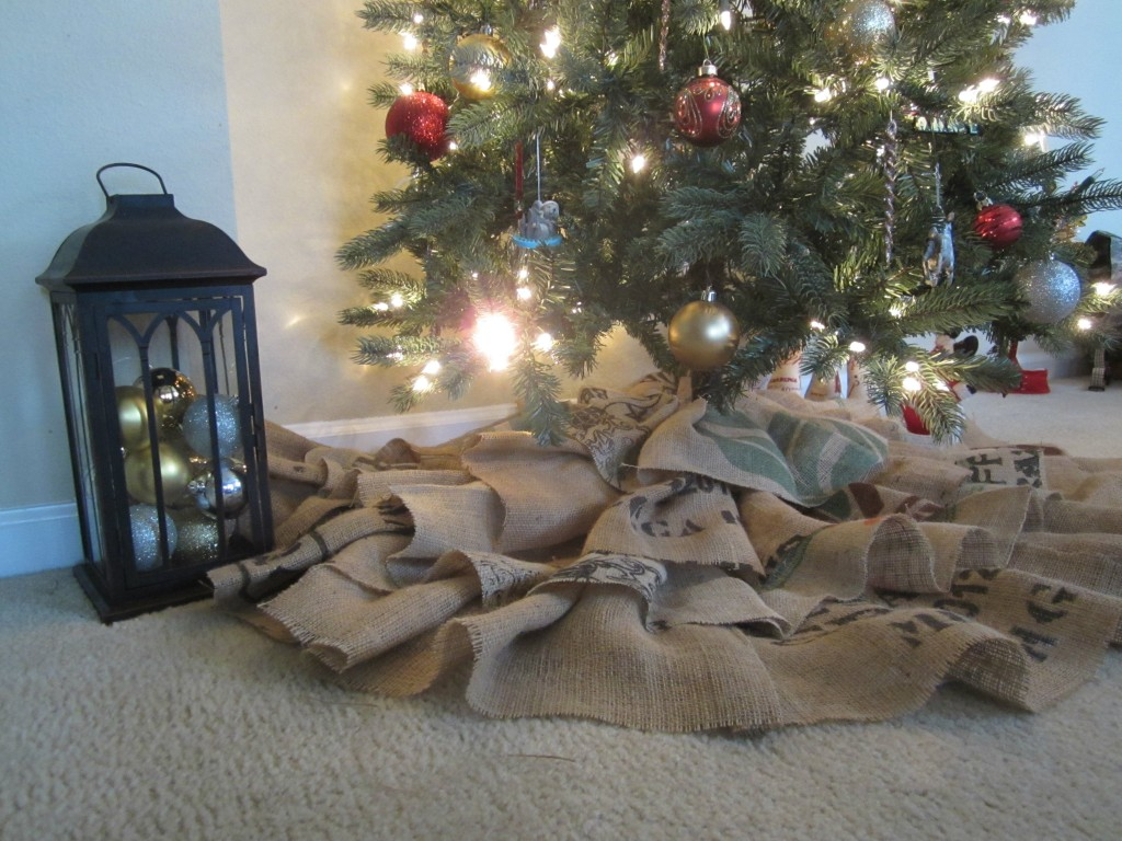 Burlap Ruffle Tree Skirt featured in The Thinking Closet Reader Showcase!