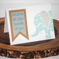Washi Baby Congrats Card