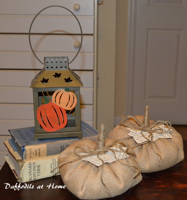 Burlap and Book Page Pumpkins from The Thinking Closet Reader Showcase