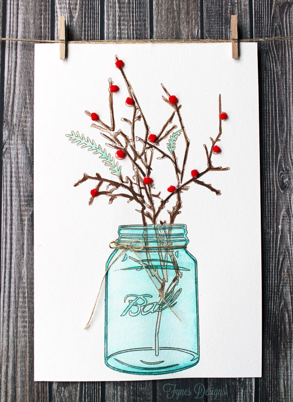 Mason Jar Watercolor Painting featured in The Thinking Closet Reader Showcase!