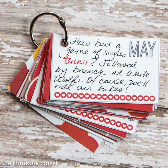 12 months of pre-planned date nights gift & free printable — the, Ideas