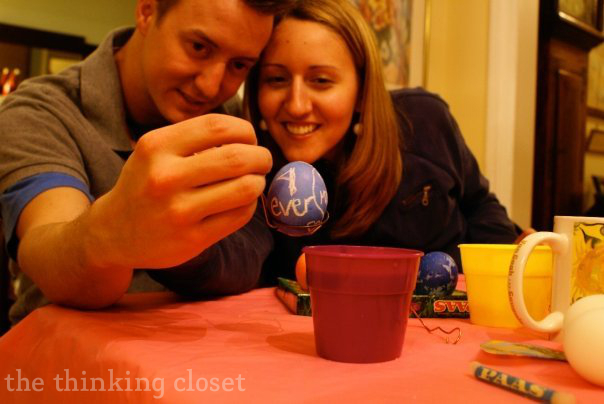 Dye eggs! 1 of 101 Creative Date Nights on a Dime! via thinkingcloset.com