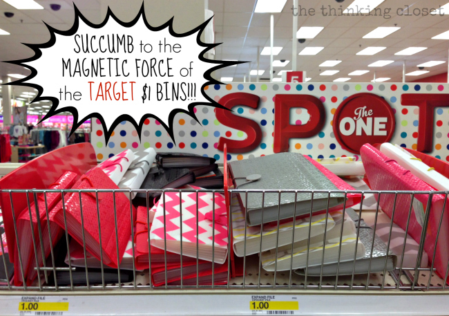 Ah yes...the magnetic force field around the Target $1 bins.  I know it well....