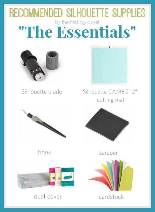 "Recommended Silhouette Supplies for Beginners: ""The Essentials"""