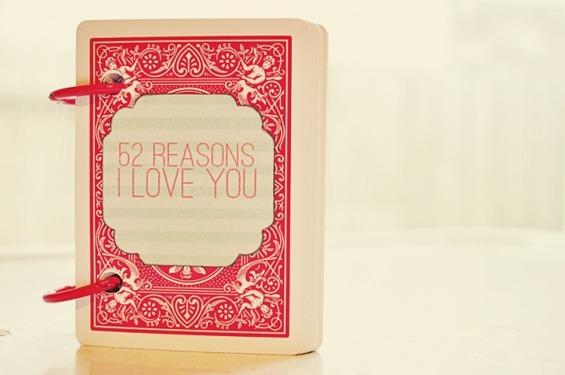 30 last minute diy gifts for your valentine the thinking for 52 reasons why i love you template powerpoint