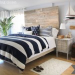 Rustic Nautical Master Bedroom Makeover: Source Guide to what was Bought, Borrowed, and Brought up from the Basement via thinkingcloset.com