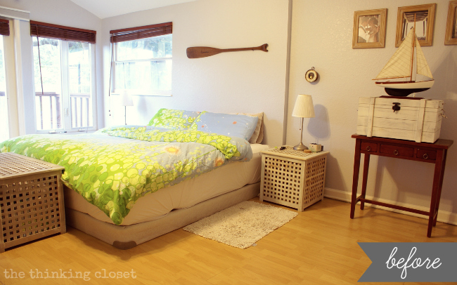 master bedroom makeover before via thinkingclosetcom