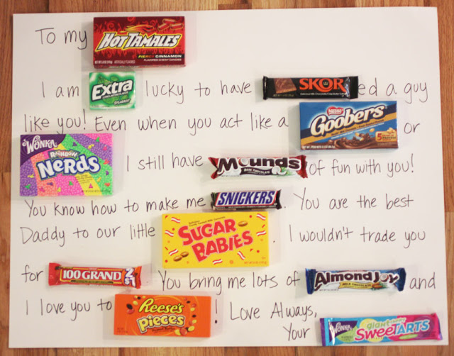 Candy Bar Card A Last Minute Valentines Day Gift Idea