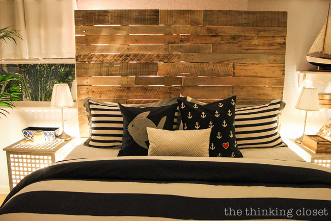 Bed Backboard how to build a wood pallet headboard — the thinking closet