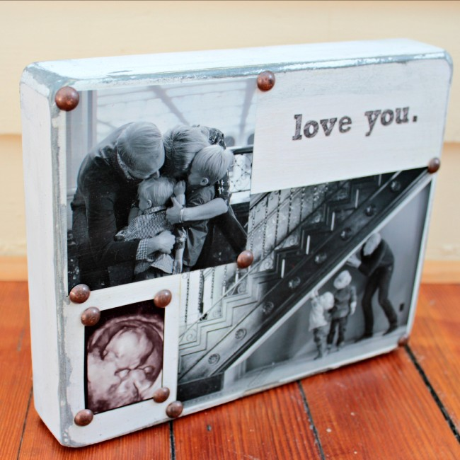 DIY Photo Block: Last Minute Valentine's Day Gift Idea