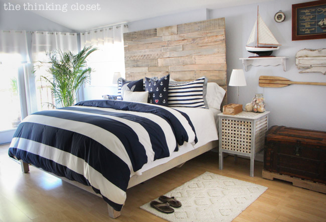 Before & After: Rustic Nautical Master Bedroom Makeover! via thinkingcloset.com