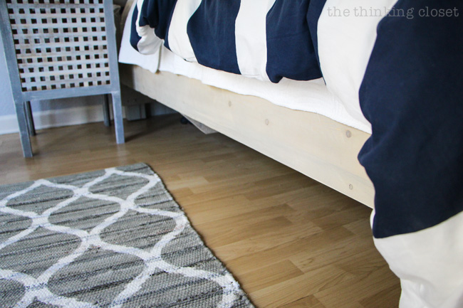 How to build a custom king size bed frame the thinking for How tall is a standard bed frame