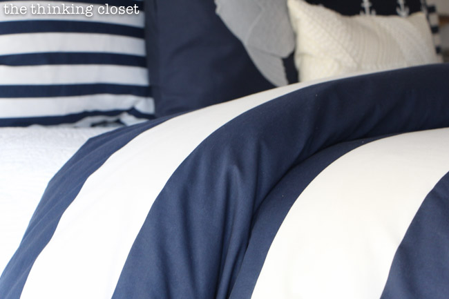 Rugby Stripes exude the nautical vibe! via thinkingcloset.com