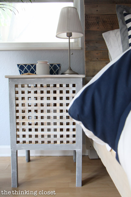 IKEA Hacked Hol Side Tables, Part Of A Rustic Nautical Master Bedroom  Makeover Via Thinkingcloset
