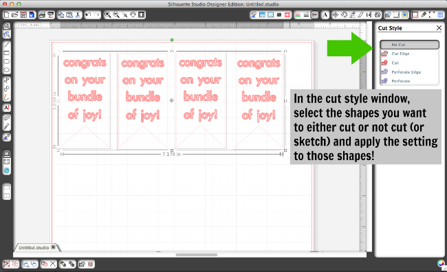 How to use the cut style window when sketching and cutting!
