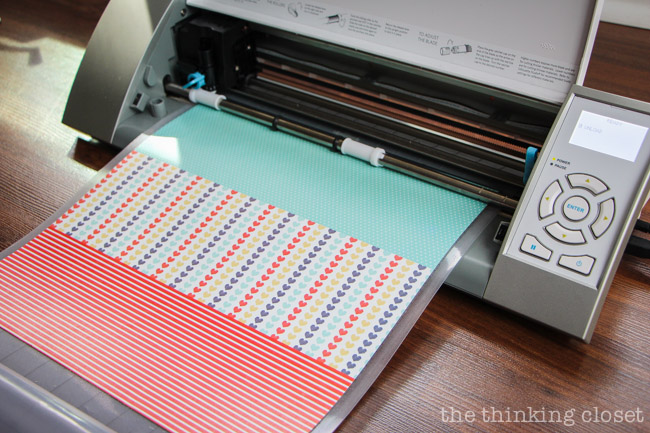 Cutting washi paper for New Baby Congrats Cards!  via thinkingcloset.com