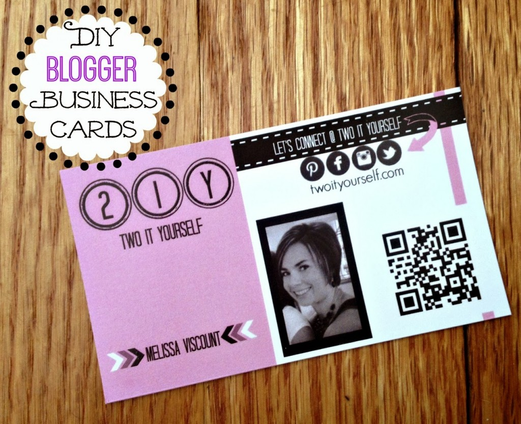 DIY Blogger Business Cards by Two It Yourself, Featured in The Thinking Closet's Winter 2014 Reader Showcase