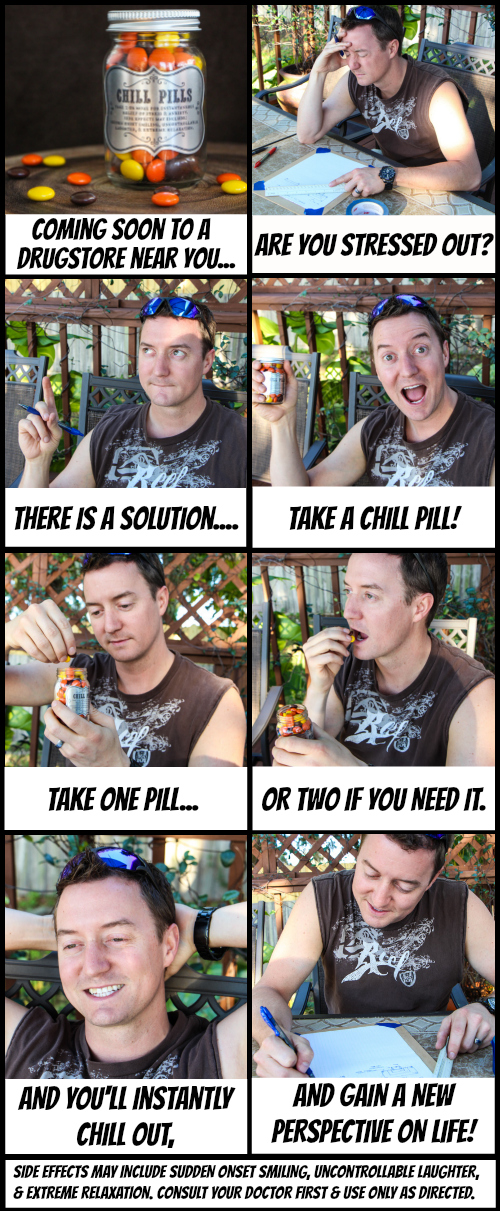 Chill Pills!  A fun idea for a gag gift.  Tutorial and FREE Silhouette cut file via thinkingcloset.com!
