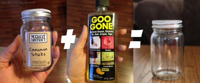 Prepping the jar using Goo Gone! Works like a charm.