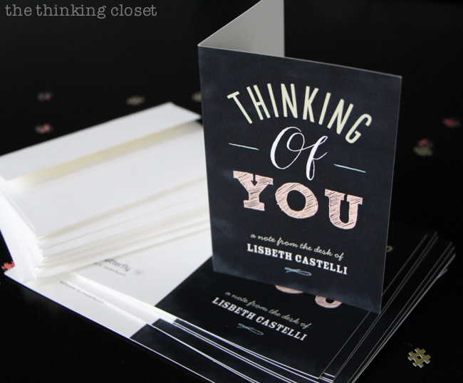 "Personalized stationery - - ""thank you"" notes at the ready for Graduation gifts! via thinkingcloset.com"