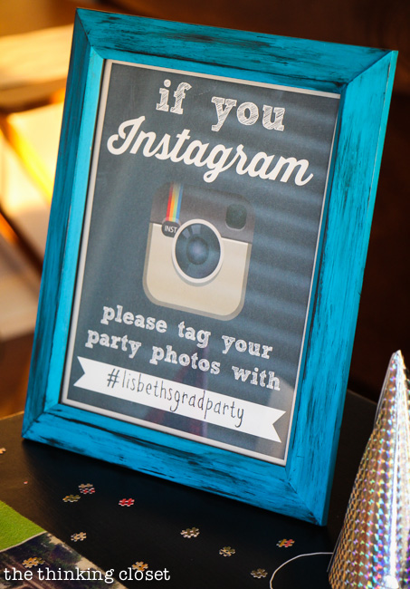 "FREE ""If You Instagram"" Party Printable!  Make use of a shared hashtag to collect guest photos from your party: pure genius!  via thinkingcloset.com"