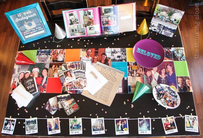 Instagram-Themed Graduation Party {in a box}!  Sending love through the mail....  via thinkingcloset.com