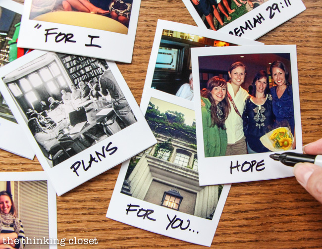 How to transform Instagram photos into faux Polaroids...on the cheap!  via thinkingcloset.com