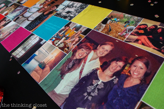 Instagram-Themed Graduation Party {in a box}. Create a custom table-runner on Shutterfly.com with a collage of Instagram photos for an eye-catching tablescape!