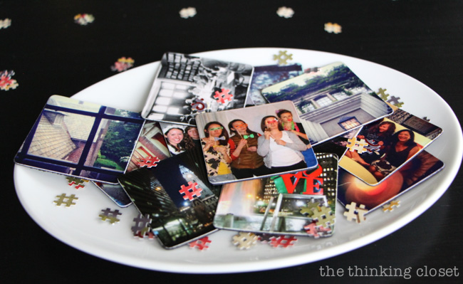 Instagram Photo Magnets: the perfect party favors for an Instagram-themed Graduation Party {in a box!} via thinkingcloset.com