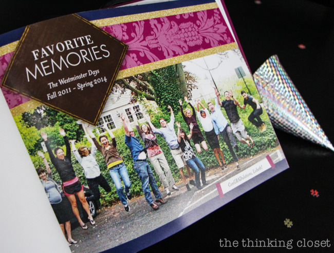 Have a photo book on display at a graduation party to share photo highlights from the last several years! via thinkingcloset.com