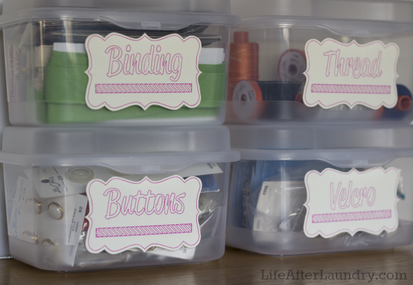 Craft Bin Labels by Life After Laundry, featured in The Thinking Closet's Winter 2014 Reader Showcase