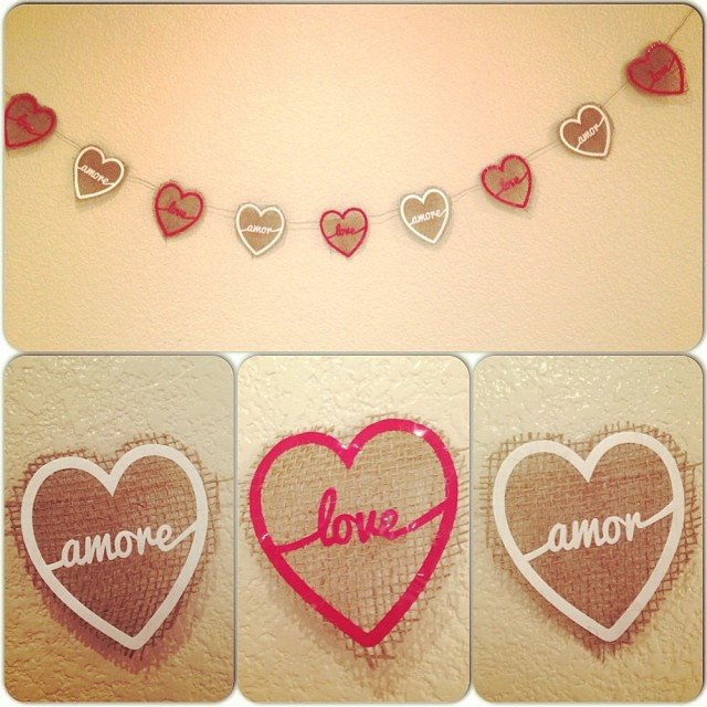 Burlap Love Banner by Jenny M., featured in The Thinking Closet's Winter 2014 Reader Showcase