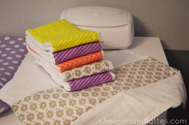 Burp Cloths by Cheerios & Lattes, featured in The Thinking Closet's Winter 2014 Reader Showcase