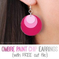 Ombre Paint Chip Earrings & Free Cut File