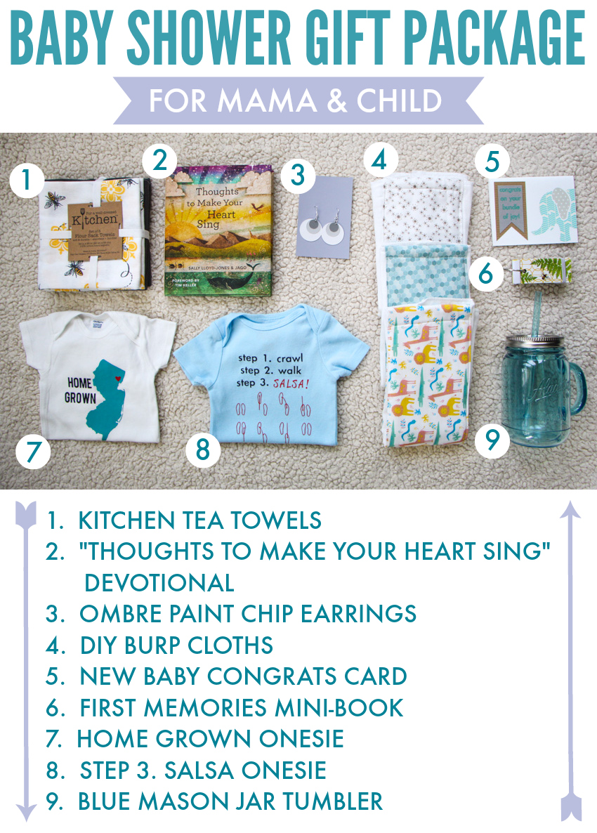 "Baby Shower Gift Package: For Mama & Child!  FREE ""First Memories Mini-Book"" Printable via thinkingcloset.com"