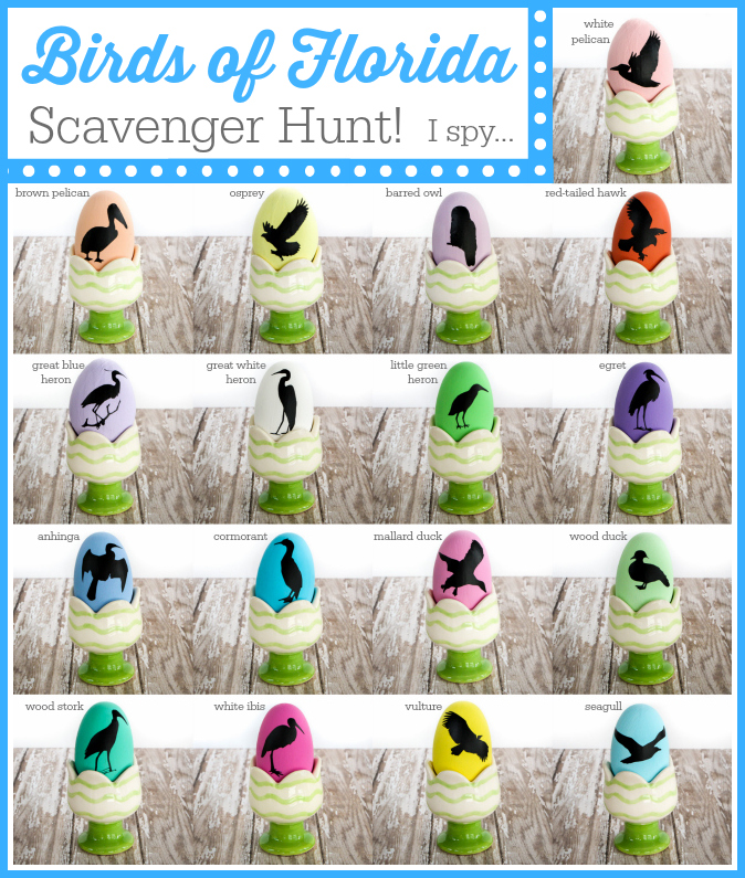 Birds of Florida Scavenger Hunt  A Fun Game for Houseguests via  thinkingcloset com. Bird Nerd Easter Eggs   the thinking closet